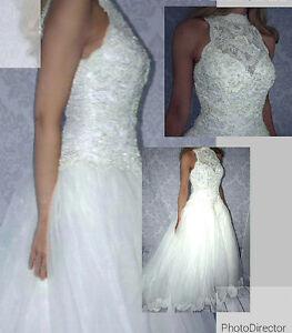 Somptueuse robe de mariée pour petite taille (4 ans)