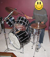 Yamaha Drum Set with all new skins