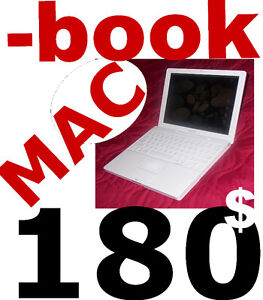 MACBOOK  C2D 2.4 2GB 160GB WEBCAM WIFI DVDRW OS MAC OFFICE 179$