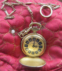 Vintage Men's Luxa Heavily Gold-Plated Pocket Watch