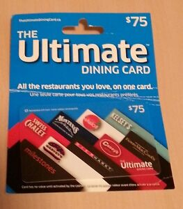 $75 Ultimate Dining Card