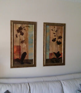 Beautiful Framed Artwork Featuring Orchids