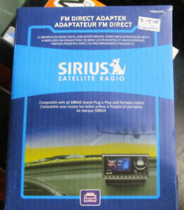 Sirius Satellite Radio FM Direct Adapter NIB