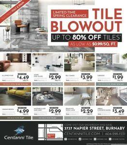 Centanni Tile Spring Clearance Sales Event
