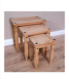 Brown tables(nest of 3)*COLLECTION ONLY*