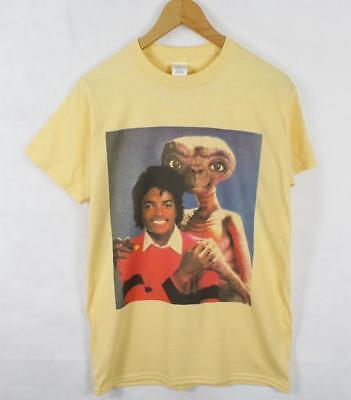 Michael Jackson E.T Yellow T-Shirt Size S-XXL Supreme Vintage Retro Thriller