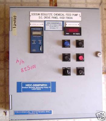 Technical Systems Chemical Feed Pump Dc Drive Panel