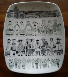 Platter, Arabia from the Emilia Collection, Finland, by Raija Wo