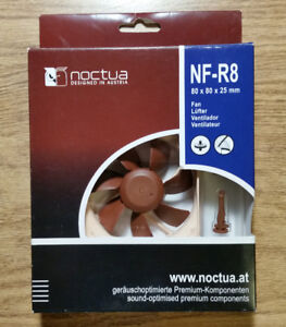 Quiet Noctua CPU and case fans, NF-R8 80mm and NF-B9 92mm