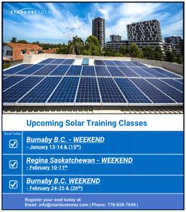 Solar Installation & Certification class (Wknd Dec. 9-10th)