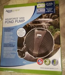 POND PUMP BRAND NEW IN BOX AQUAFORCE 5200 GPH