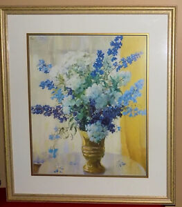 Beautiful Large Framed Art Floral Picture