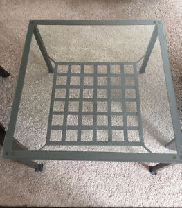 Ikea coffee table + end table MUST GO! $ 50 for pair!