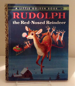 1958 RUDOLPH THE RED-NOSED REINDEER Story Book