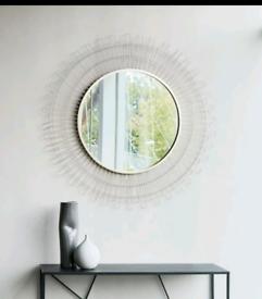New Kelly Hoppen Round Sunburst Accent Mirror