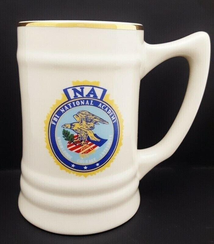VINTAGE FBI FEDERAL BUREAU INVESTIGATION NA NATIONAL ACADEMY SEAL STEIN MUG F6