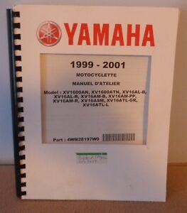 Manuel d'atelier et de réparation pour moto Yamaha  1999 à  2001