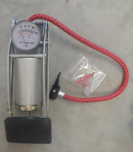 Foot Air Pump with Gauge for Sports Equipment, Tires, Pool Toys