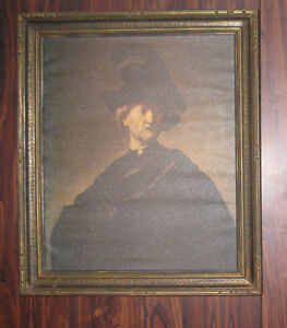 Wooden Antique Frame Print of Rembrandts Father