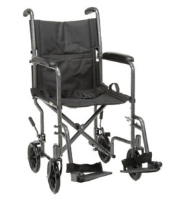 Fauteuil roulant portable lightweight folding wheelchair