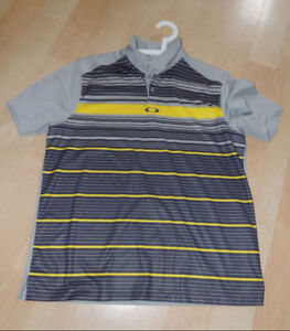 Several USED golf shirts form O-A-K-L-E-Y they are XL