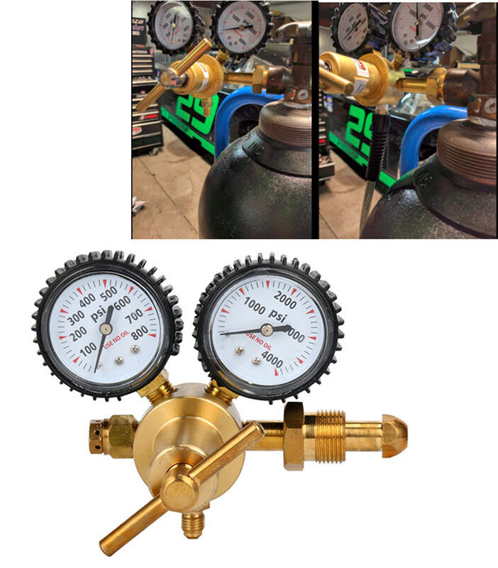Nitrogen Regulator with 0-800 PSI Delivery Pressure, CGA580 Inlet Connection US