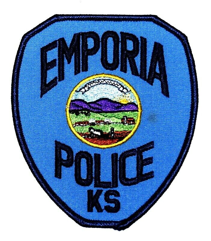 EMPORIA KANSAS KS Sheriff Police Patch STATE SEAL HORSE PLOW COVERED WAGON ~