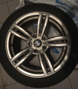 BMW M original mags with winter tires 225/45R17