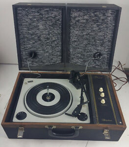 Vintage TeleTone U A 25 Record player 4 Speed 16,45,33,78 RPM