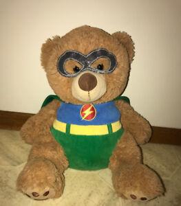 Toys R Us Animal Alley Plush Superhero Bear Flash Green Lantern