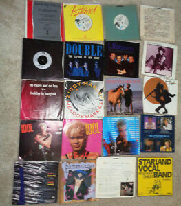 45 rpm Vinyl Marley Etheridge Benatar Culture Club Billy Idol