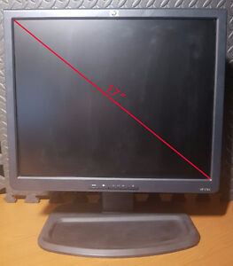 "HP 17"" Monitor. All cables included."