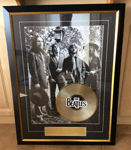 Beatles-Framed-Final-Photo-with-Gold-LP-Brand-New  Beatles-Fram