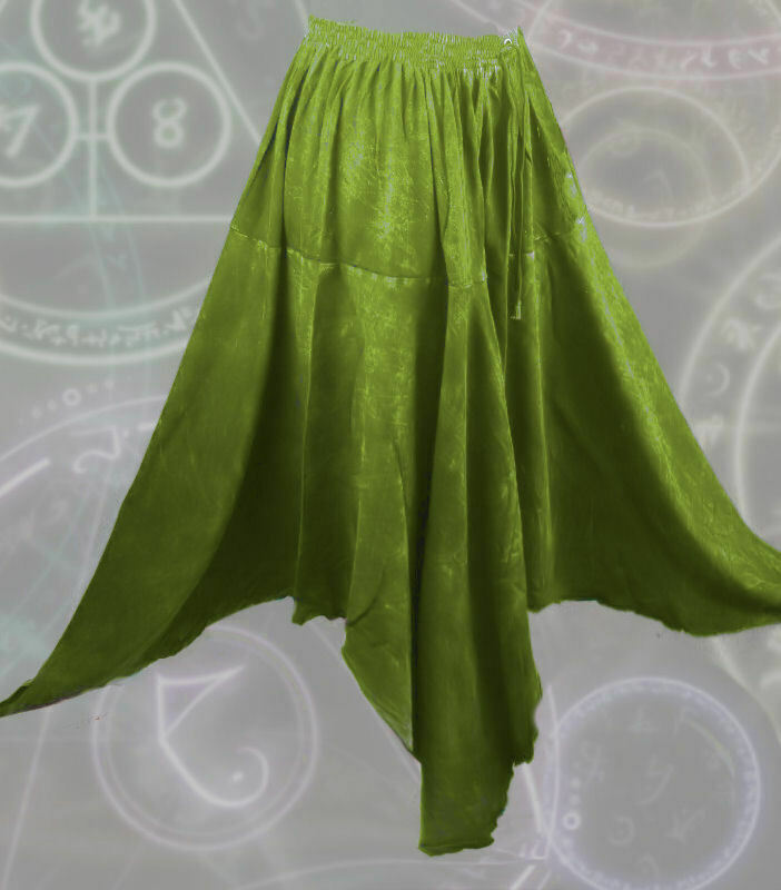 Gothic Mittelalter Rock Zipfel Witchy Hexe Skirt Pixie Hem alternative Kleidung