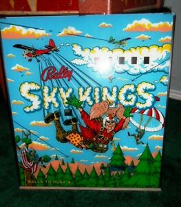 1974 BALLY SKY KINGS PINBALL BACKGLASS London Ontario image 1