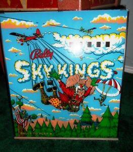 1974 BALLY SKY KINGS PINBALL BACKGLASS
