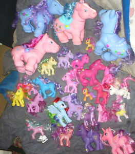 large collection of my little pony toys from 1980's up .36
