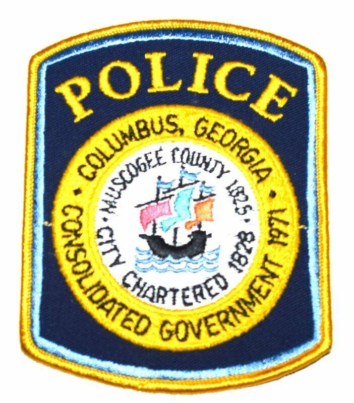 COLUMBUS GEORGIA GA Sheriff Police Patch CITY SEAL TALL SAILING SHIP MUSCOGEE CO