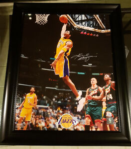Kobe Bryant Signed 16x20 framed photo, PSA authenticated