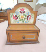 Wood Jewelry / Keepsake Box - Hand Painted Flowers