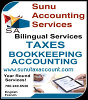 Income tax, Bookkeeping and Accounting Services