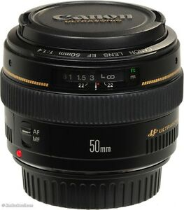 Canon EF 50mm f/1.4 USM Lens, like new