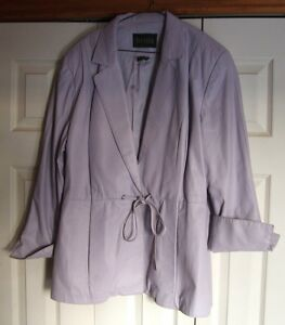 Danier Leather Jacket Size 18 Lilac Colour