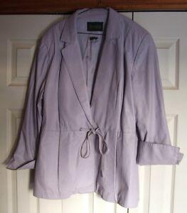 Danier Leather Jacket Size 18 Lilac Colour
