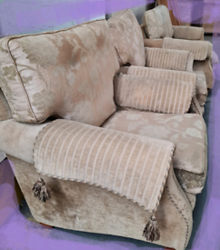 Two seater sofa and two armchairs