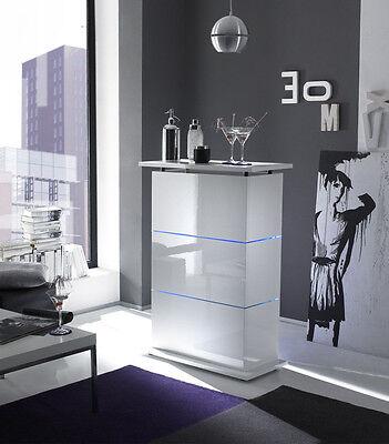Mobile bar con Led contenitore laccato lucido bianco Design moderno da Soggiorno