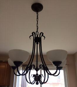 Black-brown chandelier