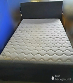 Gas Lift Storage Double Bed with Ikea Mattress