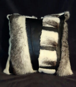 Pillows and Throws from fur coats