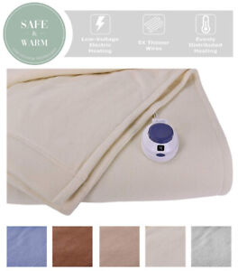 Soft Heat Micro-Fleece Low-Volt Electric Heated Blanket, Twin